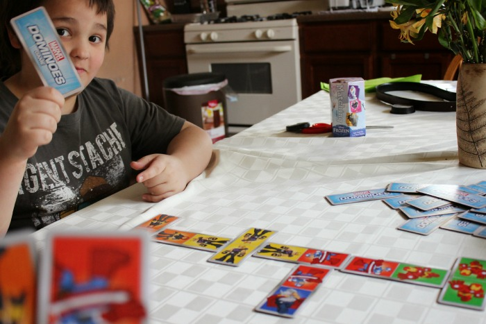 Marvel Dominoes Game in Play