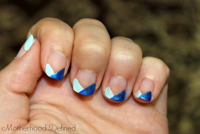 layered blue tips tutorial second layer