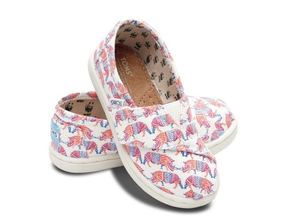 rhino-printed Toms slippers