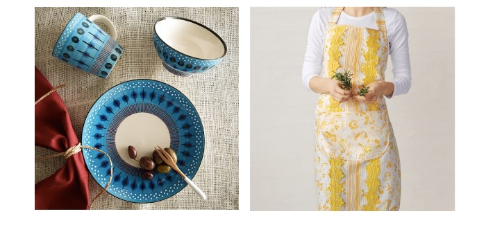 gifts for her tablewear and apron