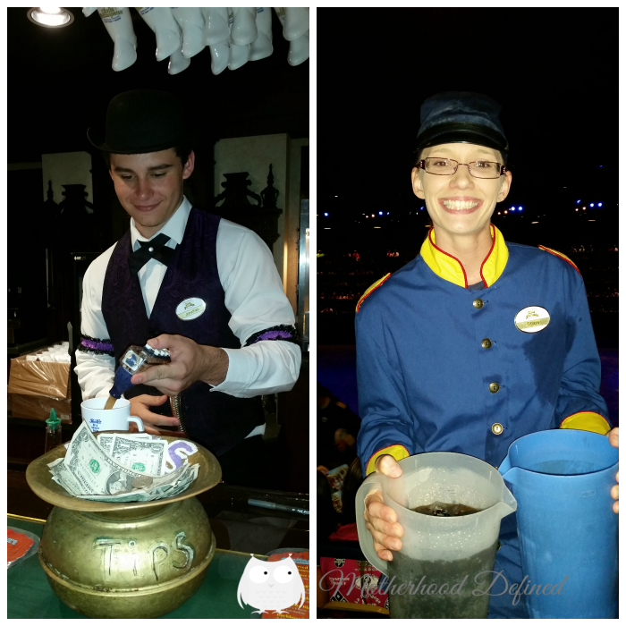 Service with a smile - Dixie Stampede