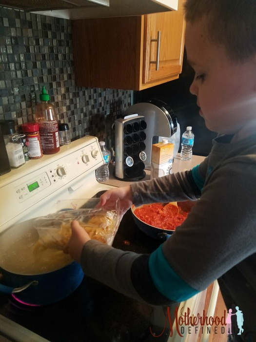 Cooking with Kids Rao's Rigatoni Pasta