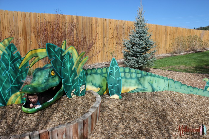Get swallowed up by an alligator at Methuselah Playground