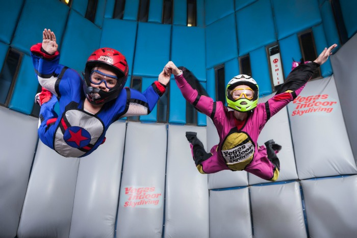 Use promo code USFAM17 to get $15 off of each single flight Vegas Indoor Skydiving. Book online at www.vegasindoorskydiving.com