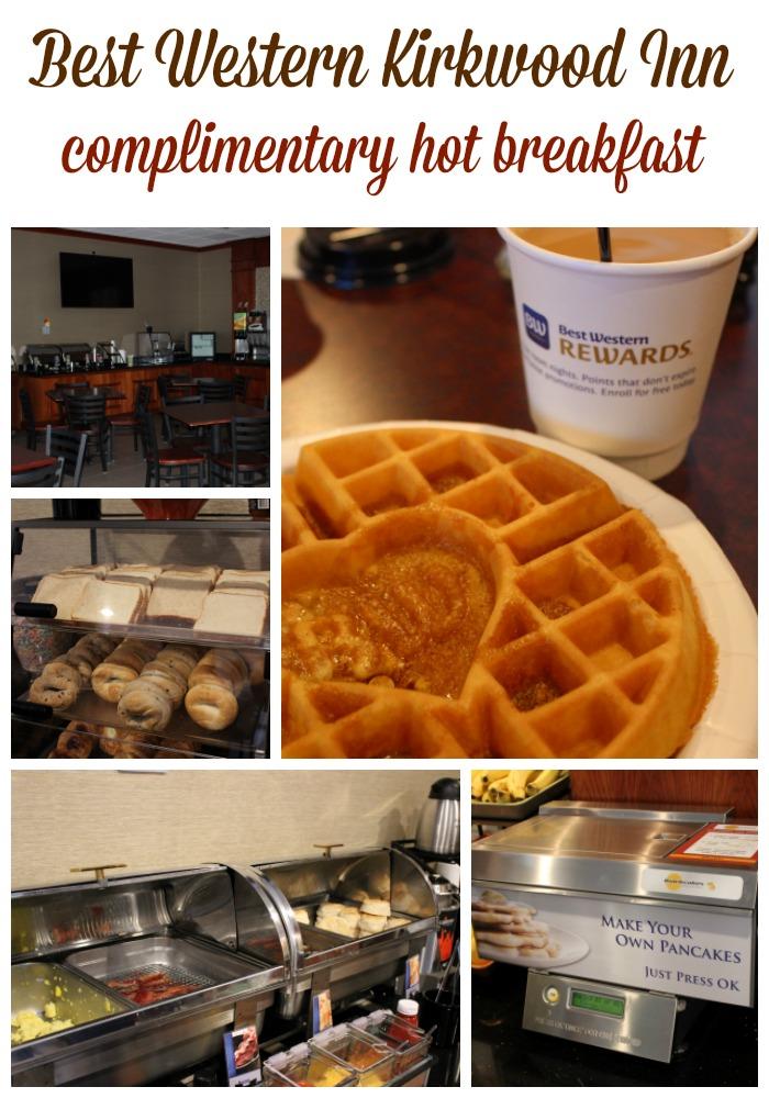 Best Western Kirkwood Inn complimentary hot breakfast