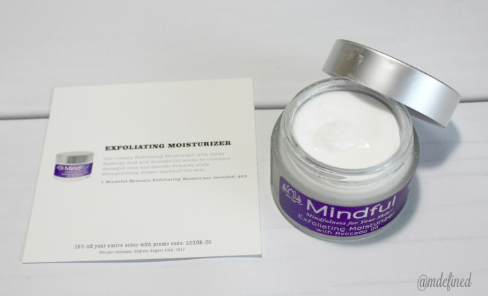 Mindful Skincare Exfoliating Moisturizer - Value $59