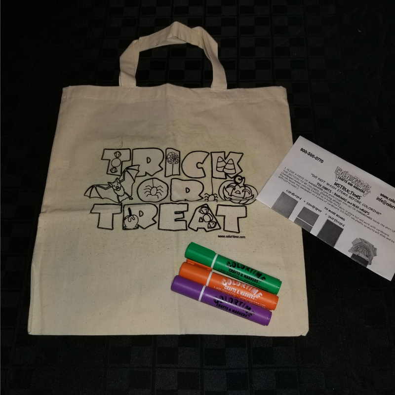 Review: Colortime Glow in the Dark Halloween Tote