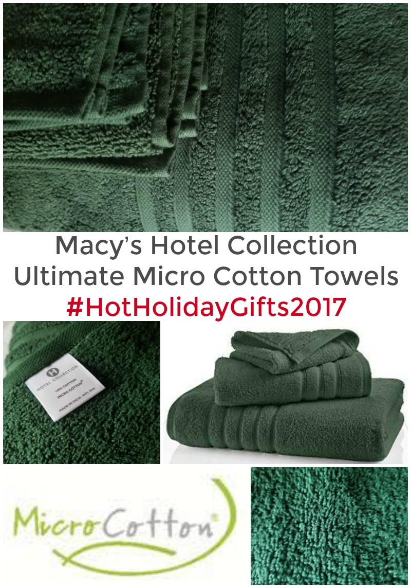 Macy's Hotel Collection Ultimate Micro Cotton Towels Review + Giveaway #HotHolidayGifts2017