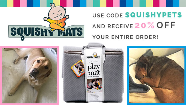 "Save 20% Off with code ""SQUISHYPETS"" on all sized Squishy Mats"