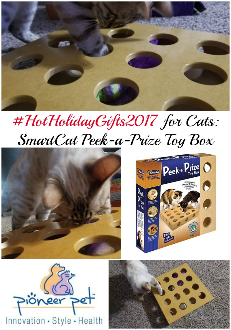 Best Gifts for Cats: SmartCat Peek-a-Prize Toy Box #HotHolidayGifts2017