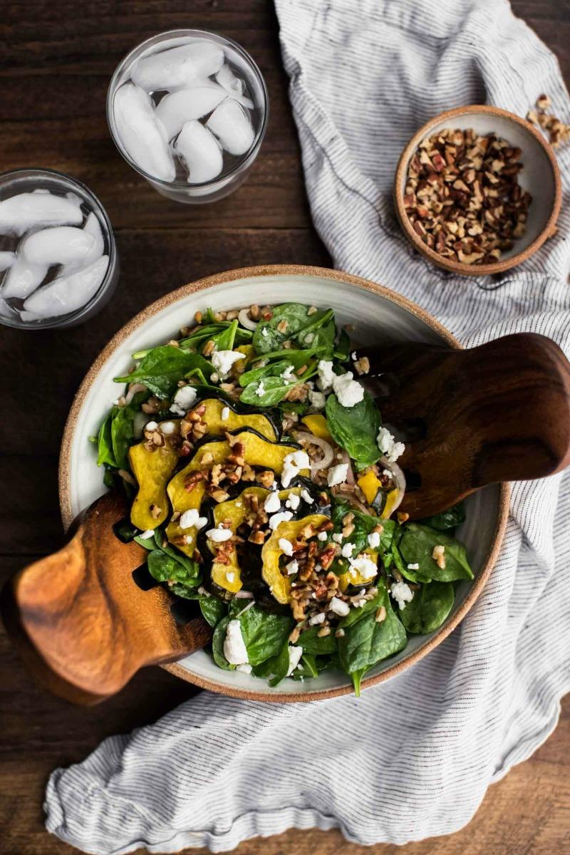 Roasted Acorn Squash Salad with Pecan Vinaigrette Recipe