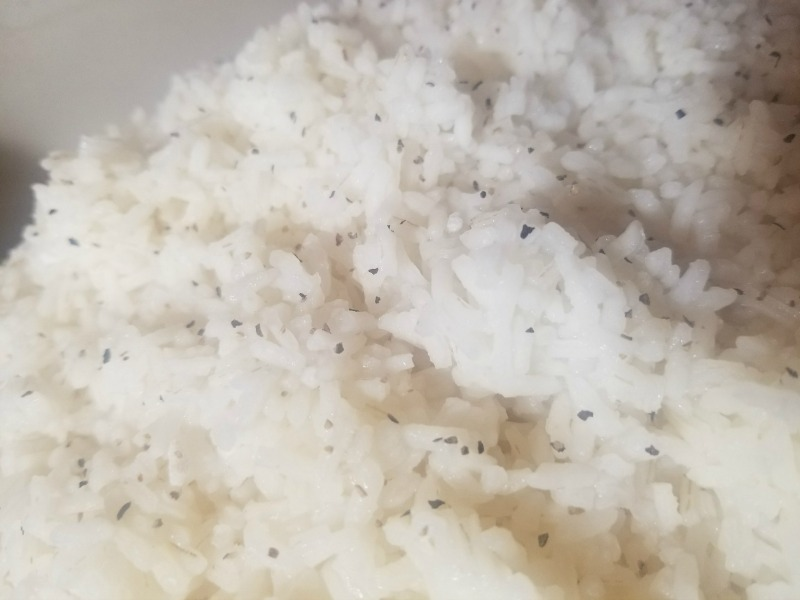 White Rice with Salt and Pepper