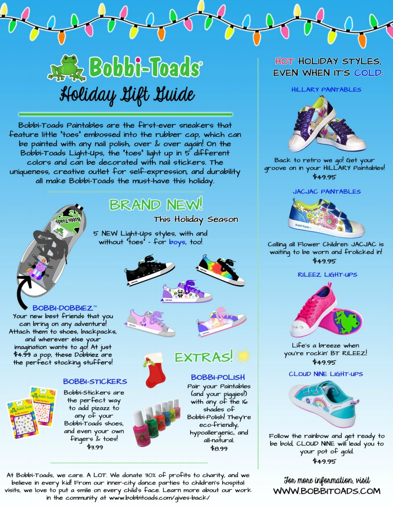 Paintable Light-up Shoes by Bobbi-Toads, Oh My! #HotHolidayGifts2017