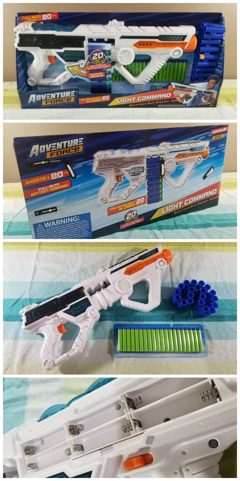 Adventure Force Light Command Motorized Light-Up Blaster #HotHolidayGifts2017