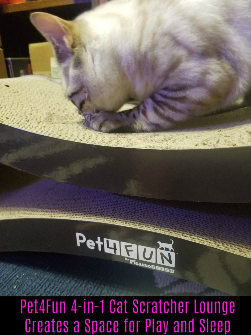 Pet4Fun 4-in-1 Cat Scratcher Lounge Creates a Space for Play and Sleep #HotHolidayGifts2017