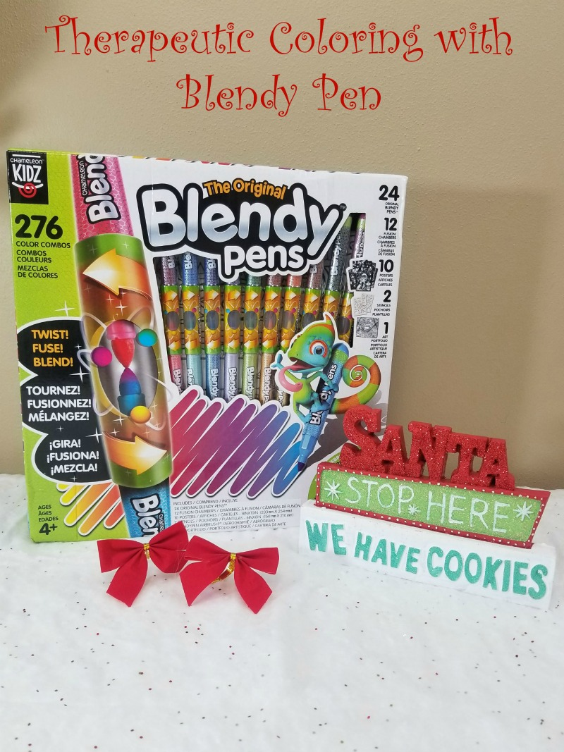 Therapeutic Coloring with the Blendy Pen Jumbo Kit #HotHolidayGifts2017