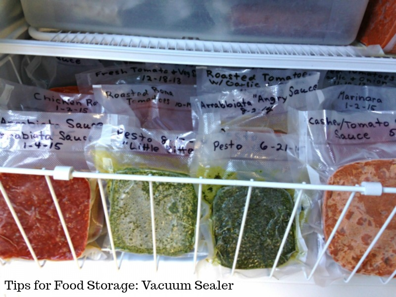 Tips for Food Storage: Vacuum Sealer