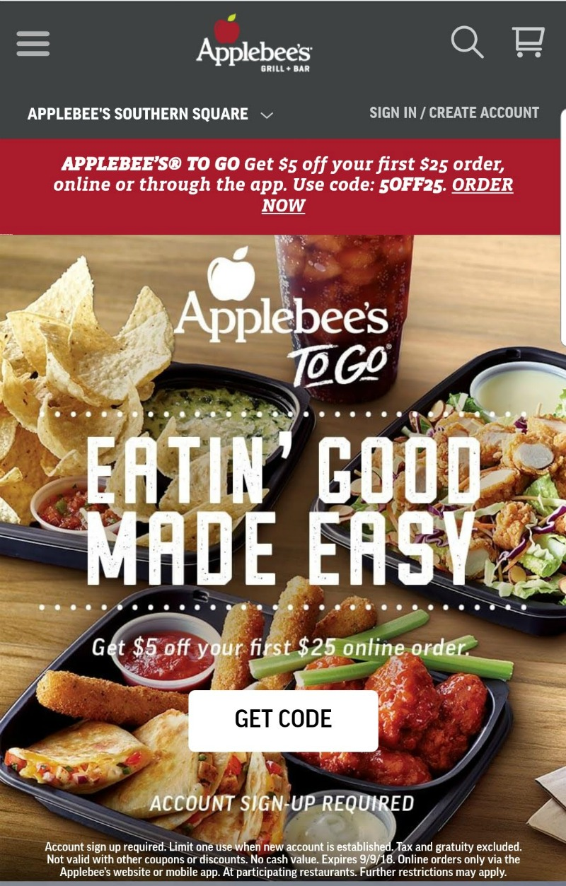 Applebee's Carside To Go is What's for Dinner Solution for Busy Moms