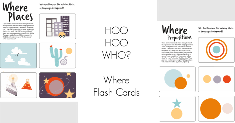 HOO HOO WHO? Where Flash Cards