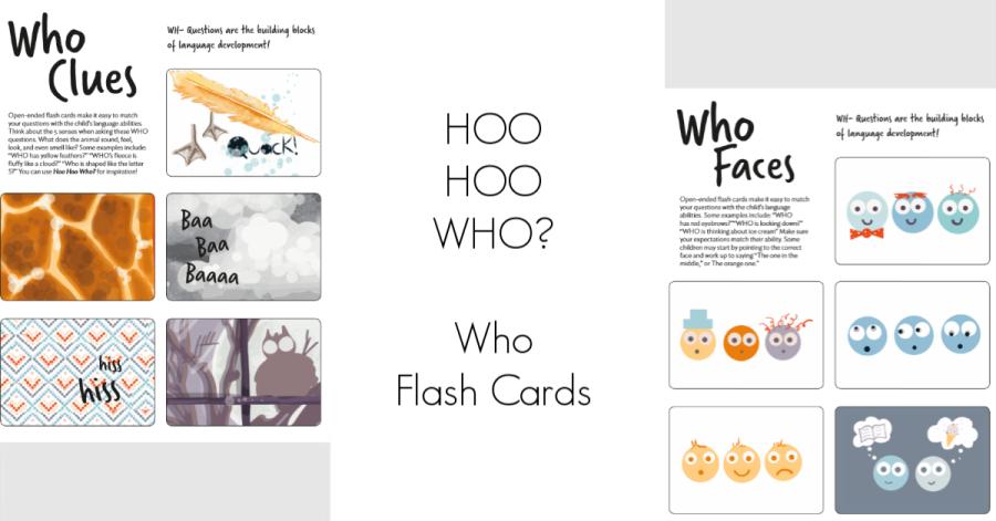 HOO HOO WHO? Who Flash Cards