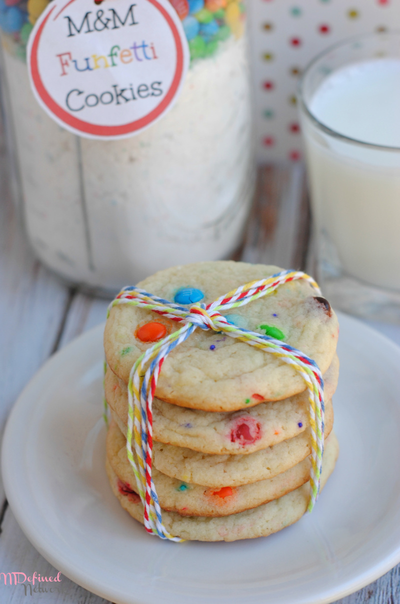 M&M Funfetti Cookies Gift Jar