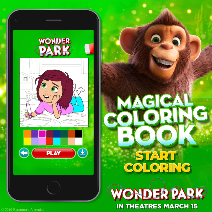 Wonder Park Magic Coloring Book and other fun activities & games