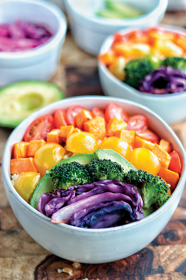 Encourage Healthy Eating Habits in Kids - Rainbow Buddha Bowl