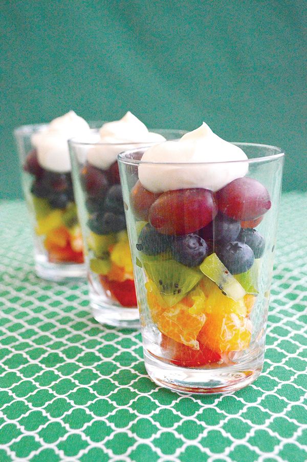 Encourage Healthy Eating Habits in Kids - Rainbow Fruit Parfaits