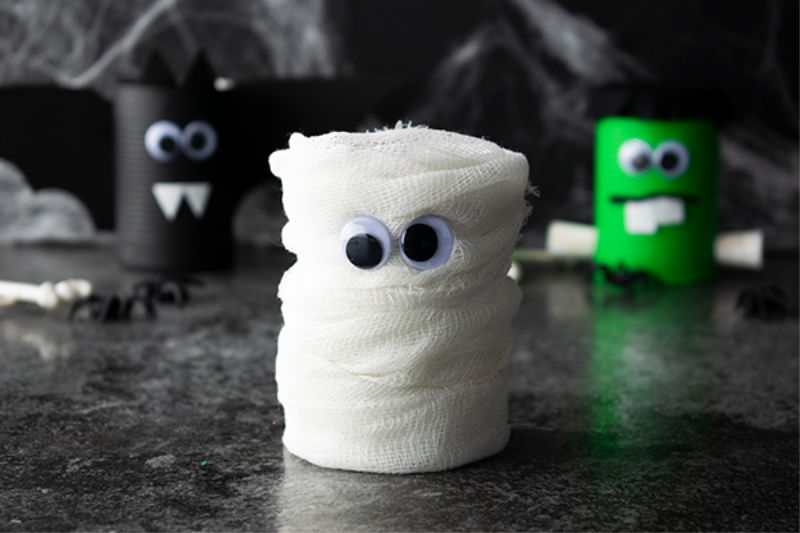 Halloween Craft Project - Mummy Can