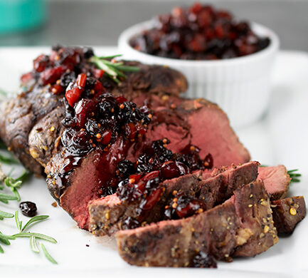 Holiday Roast with Red Pepper Cranberry Sauce