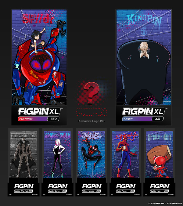 Marvel Lovers Holiday Gift Guide - Spider-Man Into the Spider-Verse Pin Box Set