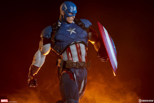 Marvel Lovers Holiday Gift Guide - Sideshow Captain America Premium Format Figure
