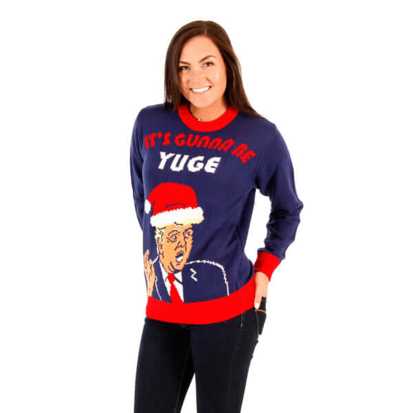 Donald Trump It's Gunna Be Yuge Ugly Christmas Sweater