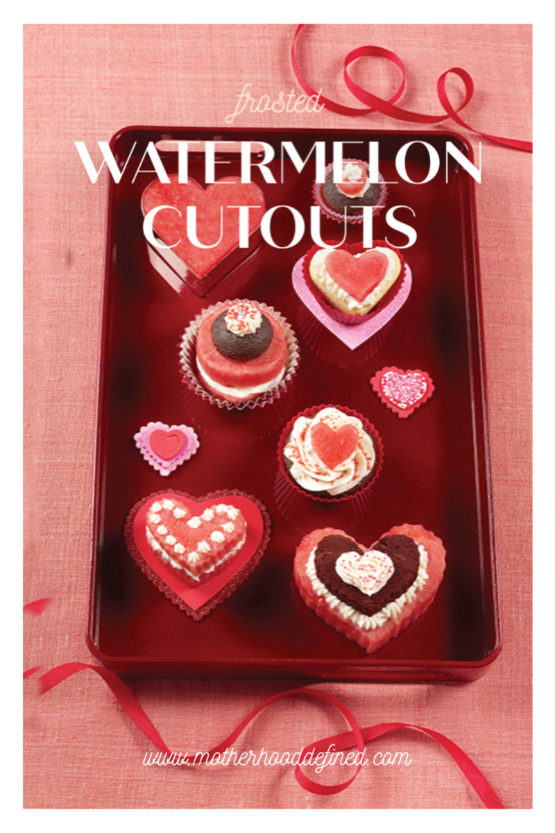 Sweet, Luscious Valentine's Day Eats and Treats: Frosted Watermelon Cutouts
