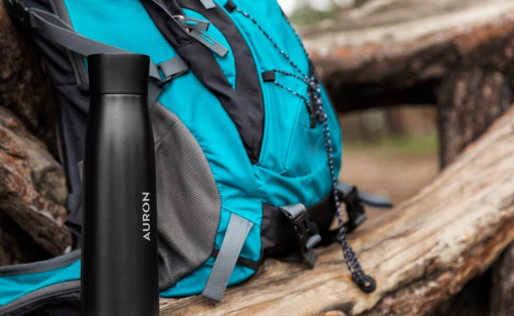 Auron Bottle: This Self-Cleaning Water Bottle is a Family Travel Essential