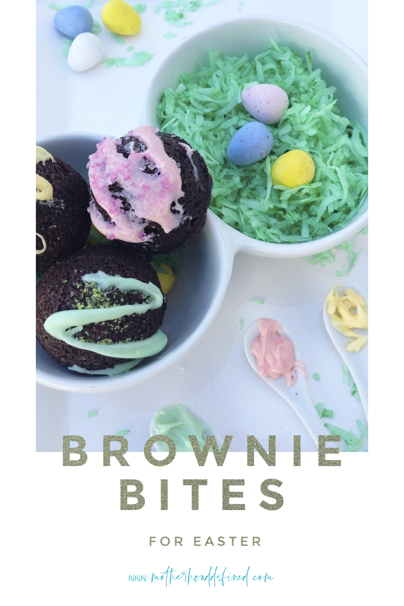 Easter Marshmallow Brownie Ball Bites