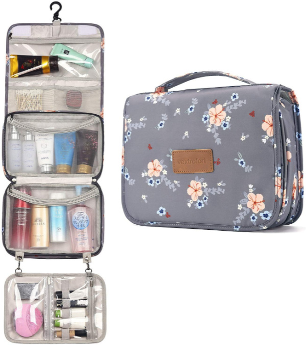 Travel Must Haves for Women - Hanging Travel Makeup Bag