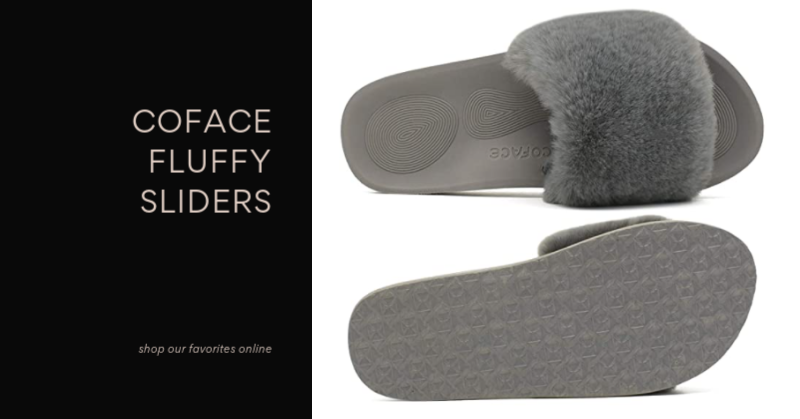 Our Favorite Footwear for Working From Home - Fluffy Sliders