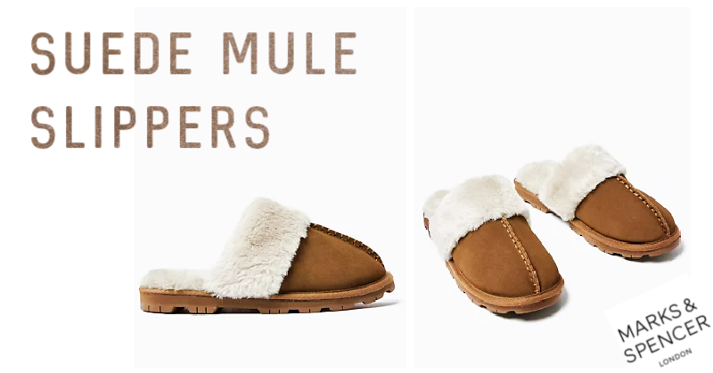 Our Favorite Footwear for Working From Home - Suede Mule Slippers